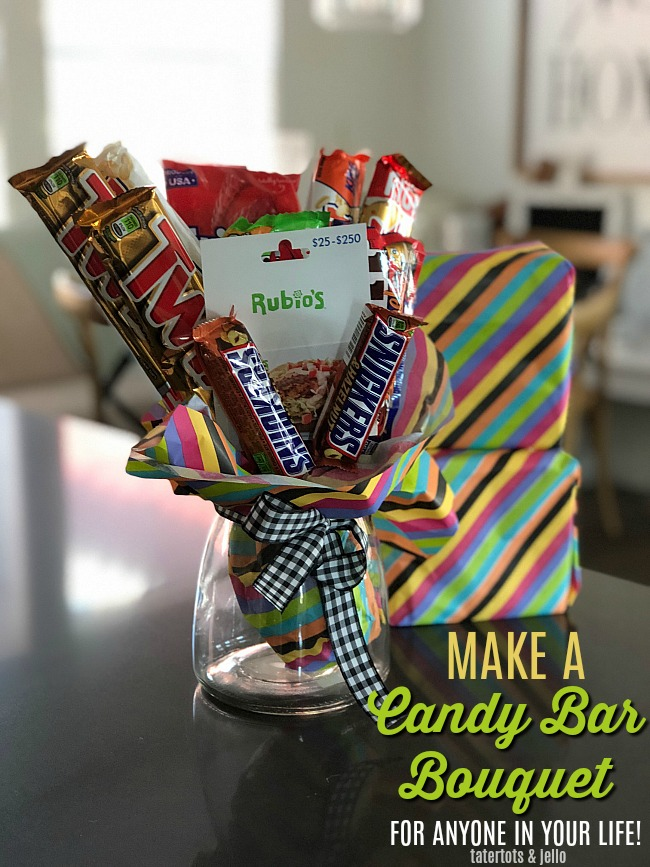 Make a Candy Bar Bouquet - the perfect gift for ANYONE in your life!